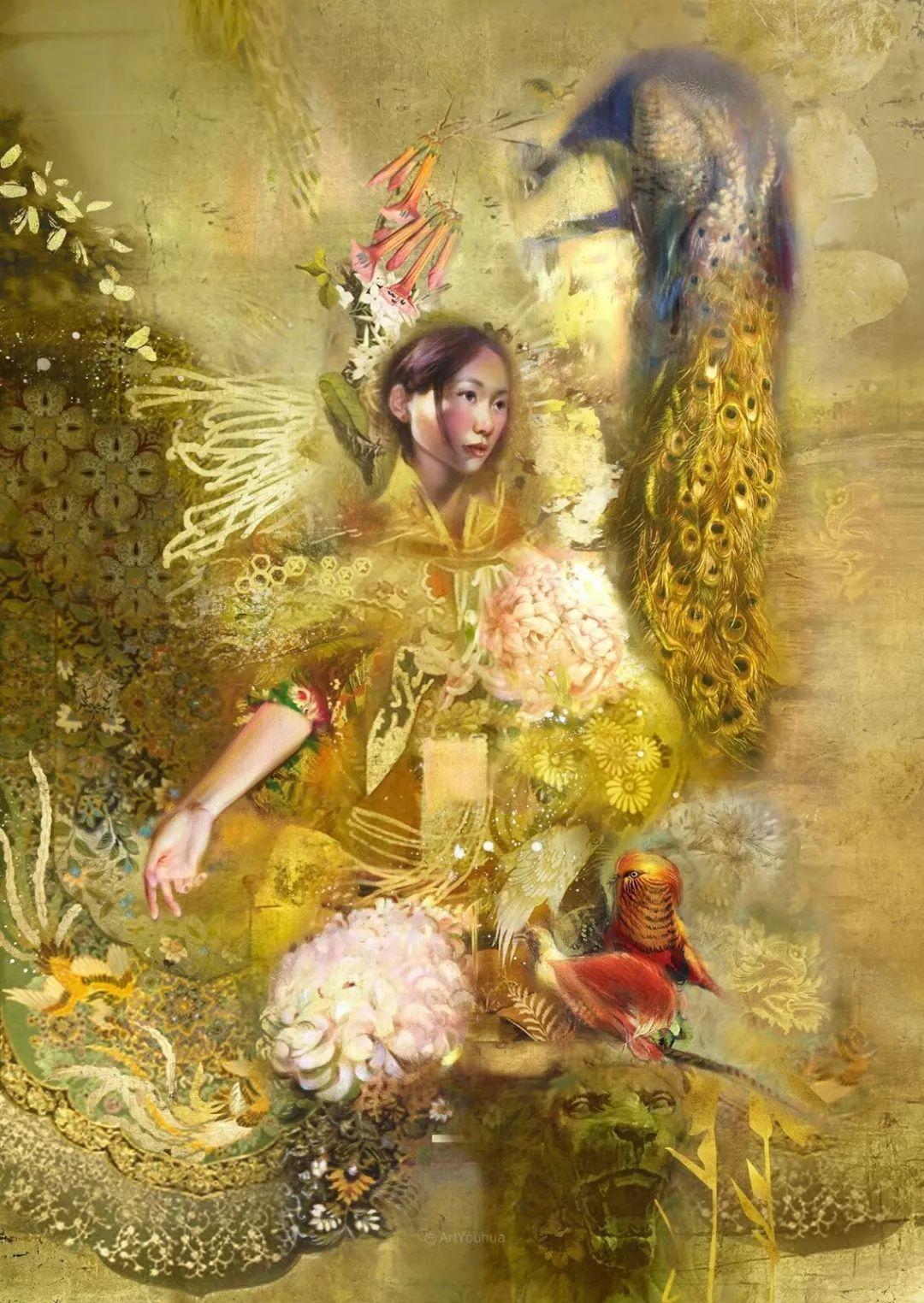 传统绘画与后现代元素的结合,英国画家伊娃·特洛伊插图14