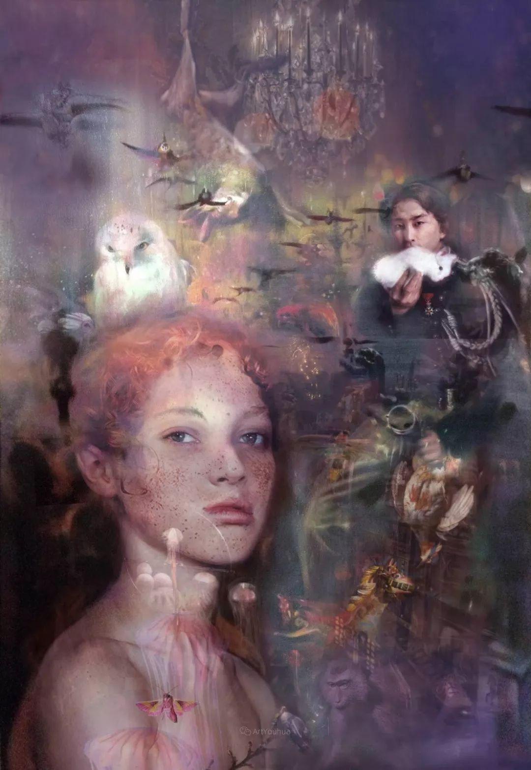 传统绘画与后现代元素的结合,英国画家伊娃·特洛伊插图15