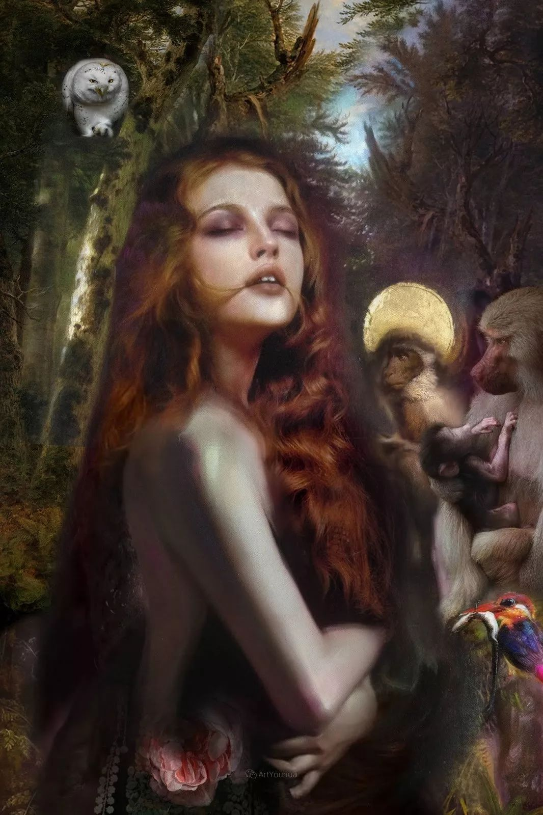 传统绘画与后现代元素的结合,英国画家伊娃·特洛伊插图17