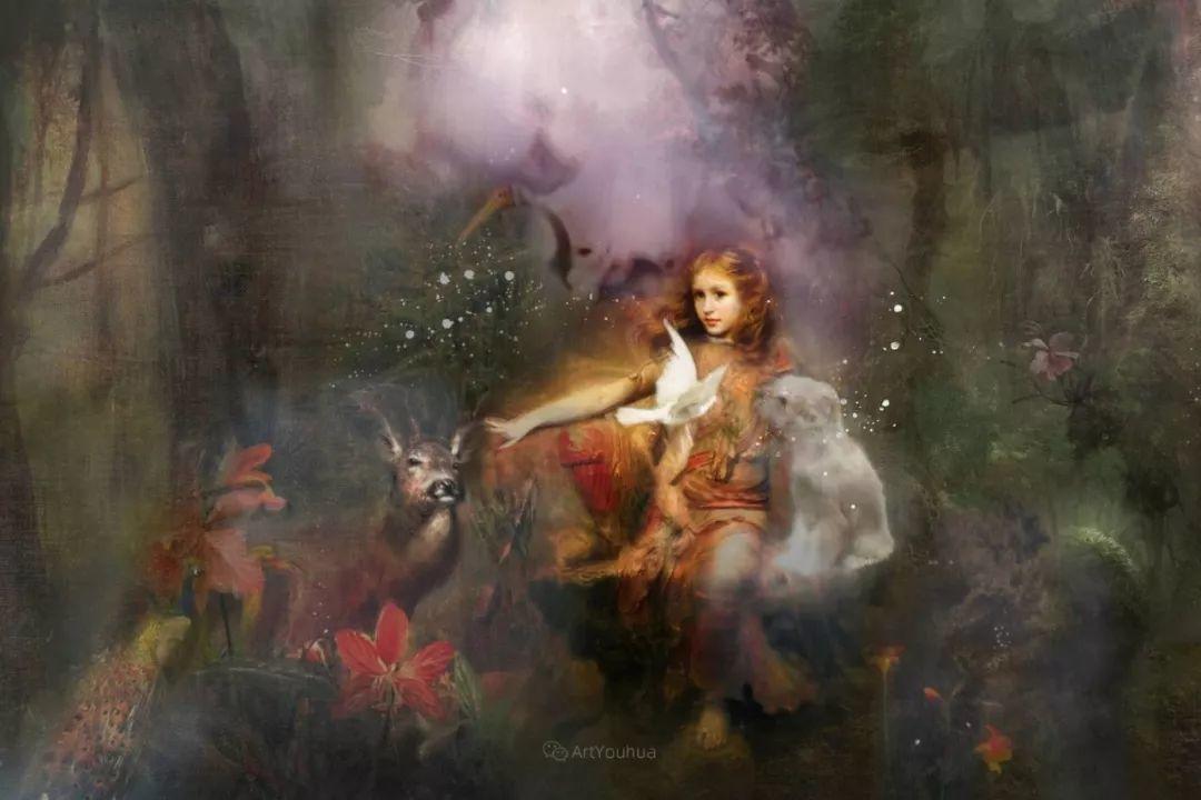 传统绘画与后现代元素的结合,英国画家伊娃·特洛伊插图18