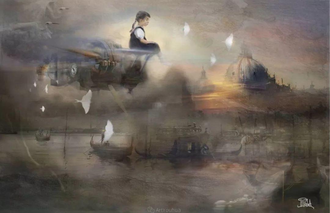 传统绘画与后现代元素的结合,英国画家伊娃·特洛伊插图20