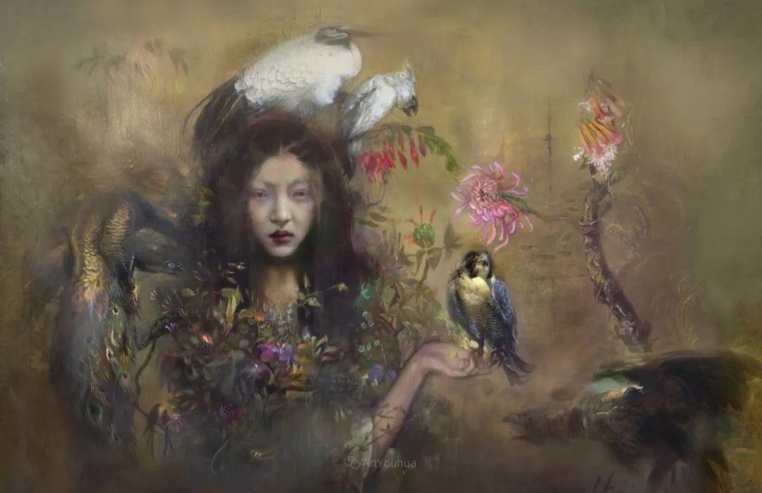 传统绘画与后现代元素的结合,英国画家伊娃·特洛伊插图21
