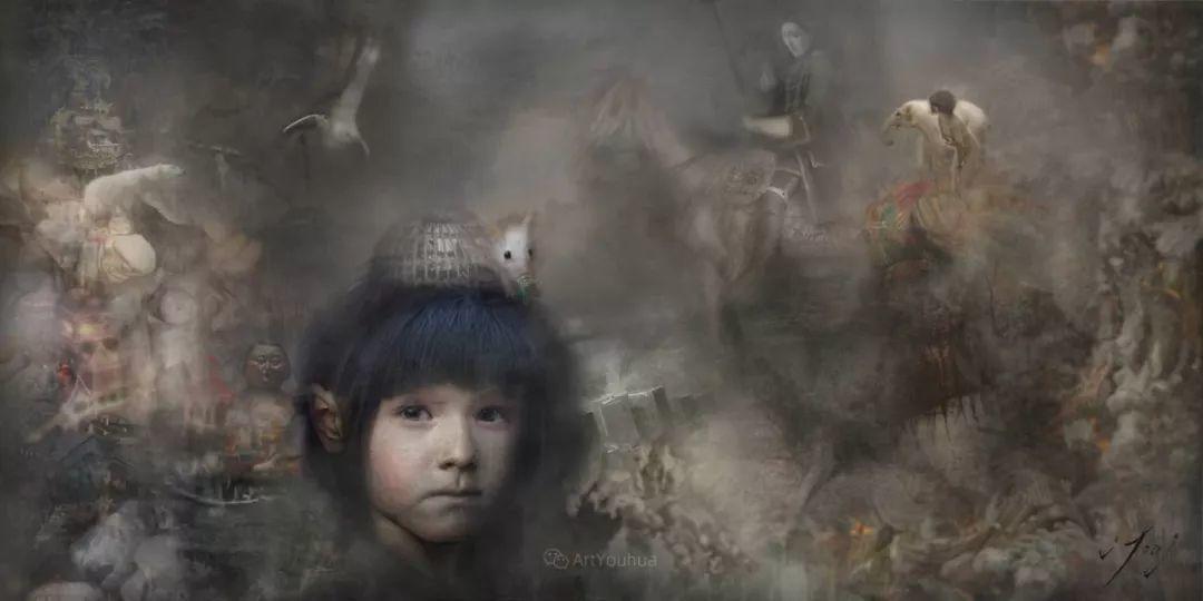 传统绘画与后现代元素的结合,英国画家伊娃·特洛伊插图26
