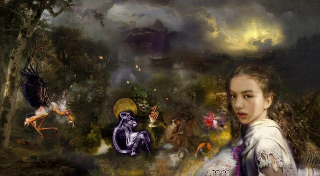 传统绘画与后现代元素的结合,英国画家伊娃·特洛伊插图27