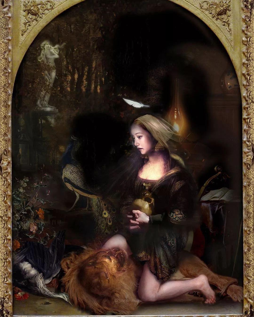 传统绘画与后现代元素的结合,英国画家伊娃·特洛伊插图28