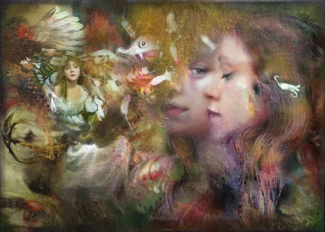 传统绘画与后现代元素的结合,英国画家伊娃·特洛伊插图30