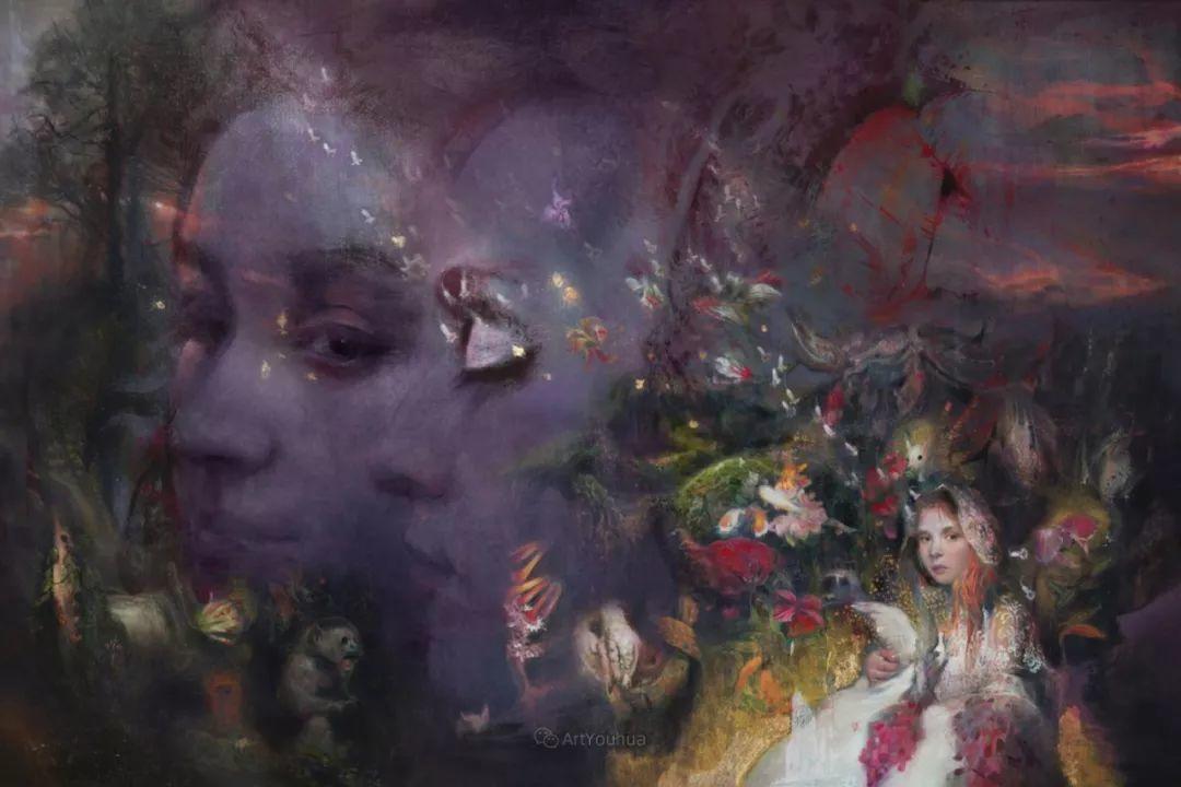 传统绘画与后现代元素的结合,英国画家伊娃·特洛伊插图32