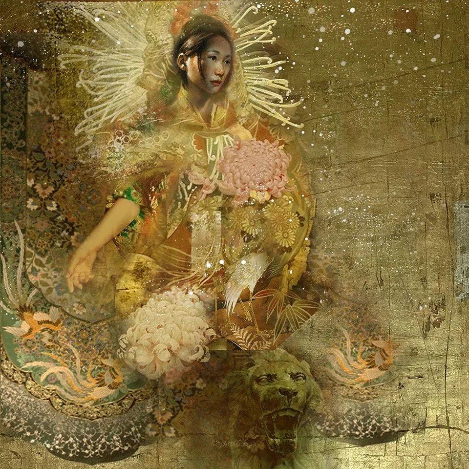传统绘画与后现代元素的结合,英国画家伊娃·特洛伊插图34