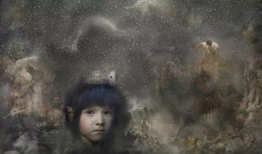传统绘画与后现代元素的结合,英国画家伊娃·特洛伊插图36