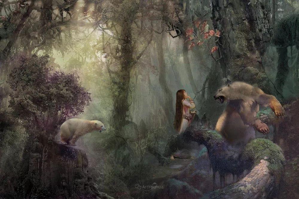 传统绘画与后现代元素的结合,英国画家伊娃·特洛伊插图37