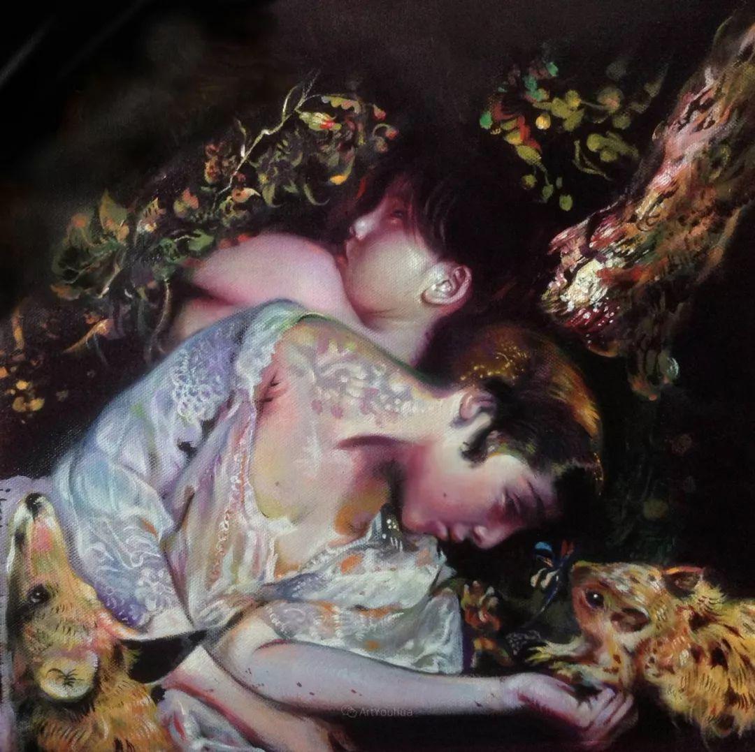 传统绘画与后现代元素的结合,英国画家伊娃·特洛伊插图38