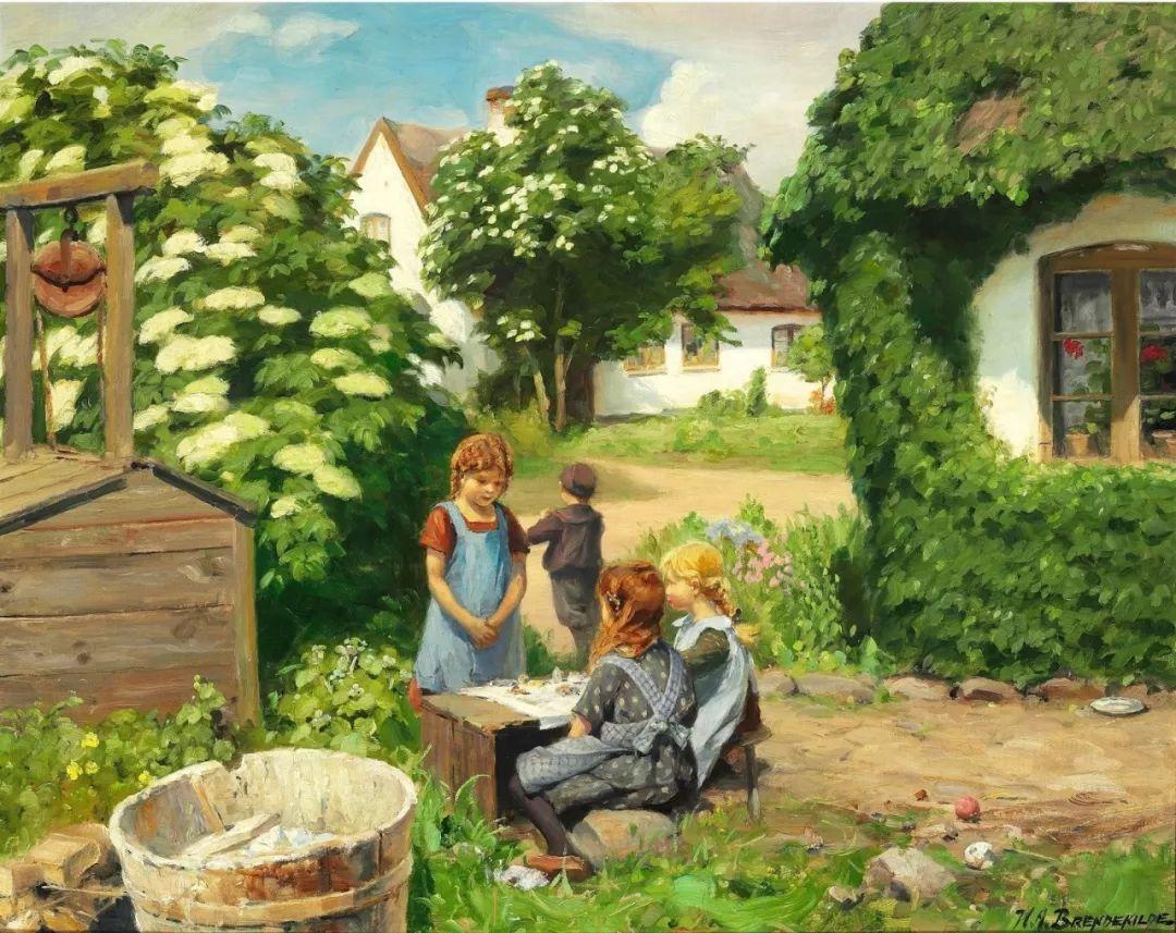 丹麦画家Hans Andersen Brendekilde作品集二插图3