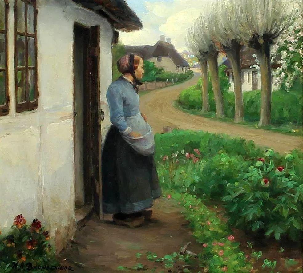 丹麦画家Hans Andersen Brendekilde作品集二插图13