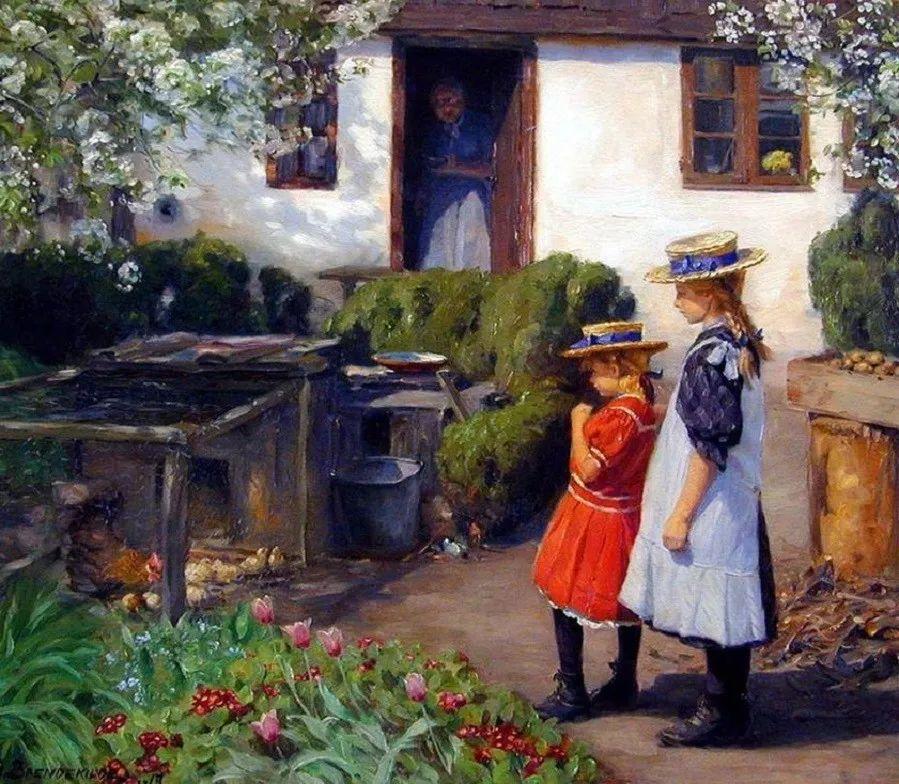 丹麦画家Hans Andersen Brendekilde作品集二插图15