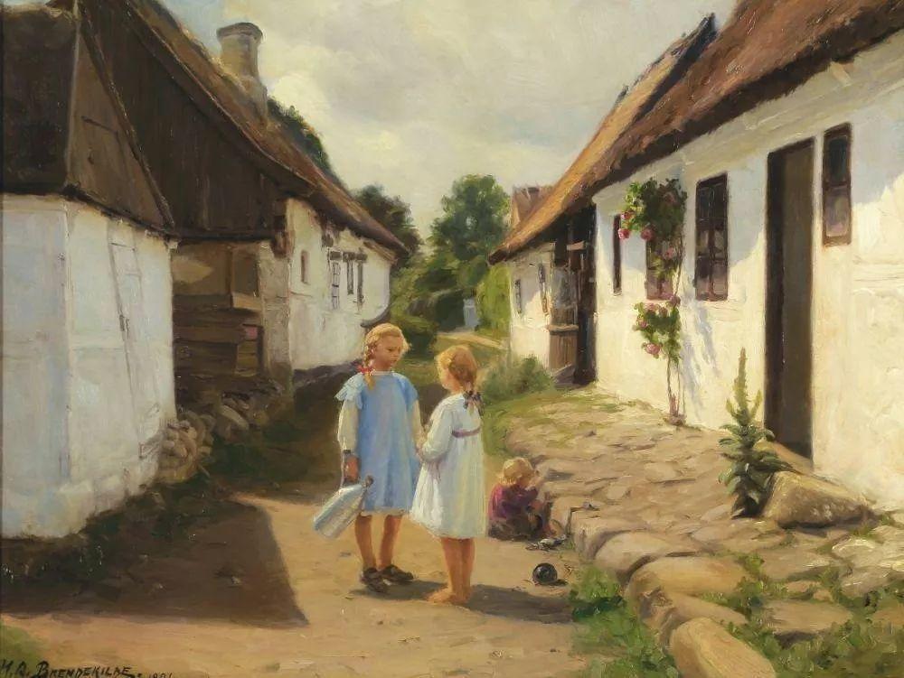 丹麦画家Hans Andersen Brendekilde作品集二插图19