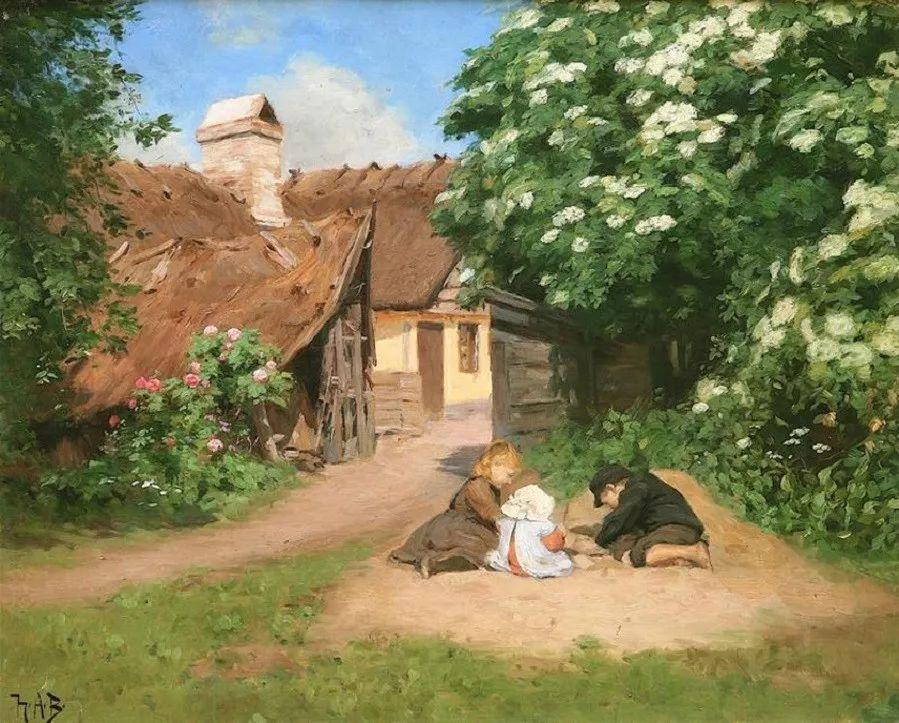 丹麦画家Hans Andersen Brendekilde作品集二插图23