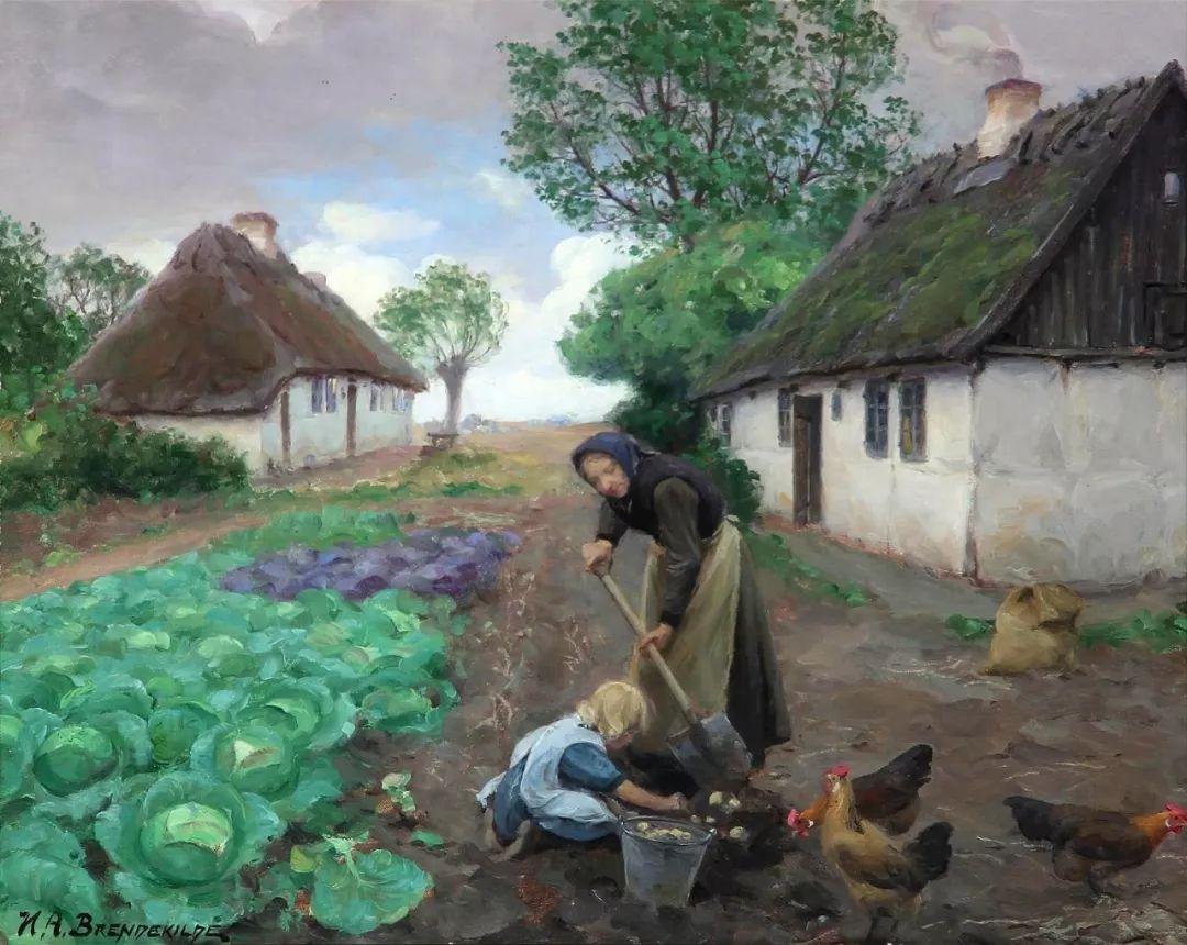 丹麦画家Hans Andersen Brendekilde作品集二插图25