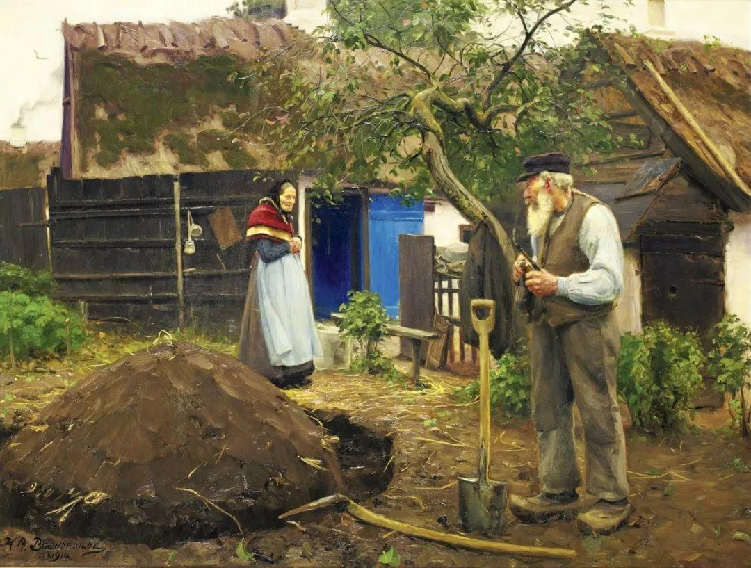 丹麦画家Hans Andersen Brendekilde作品集二插图32