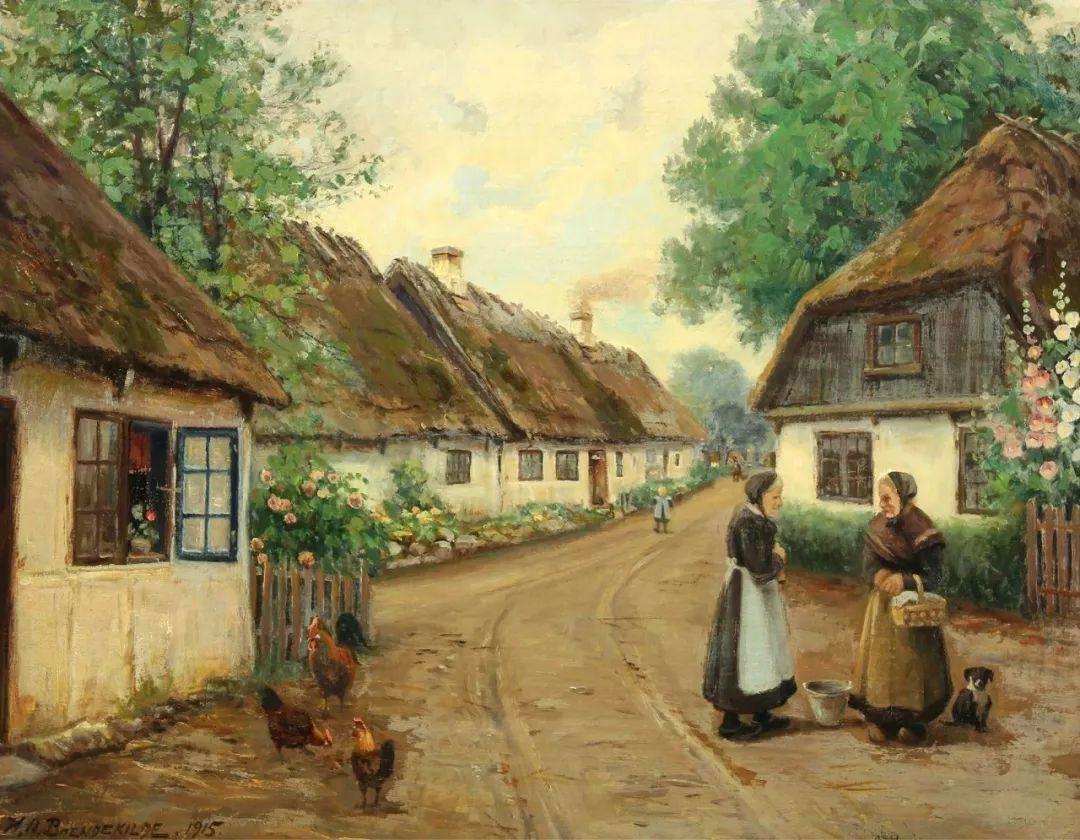 丹麦画家Hans Andersen Brendekilde作品集二插图34