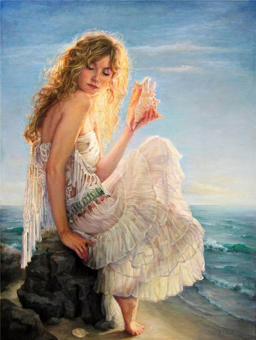 她的作品有一种沐浴阳光的暖感,加拿大画家海伦·贝兰德插图