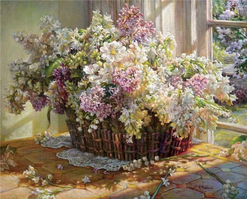 她的作品有一种沐浴阳光的暖感,加拿大画家海伦·贝兰德插图4