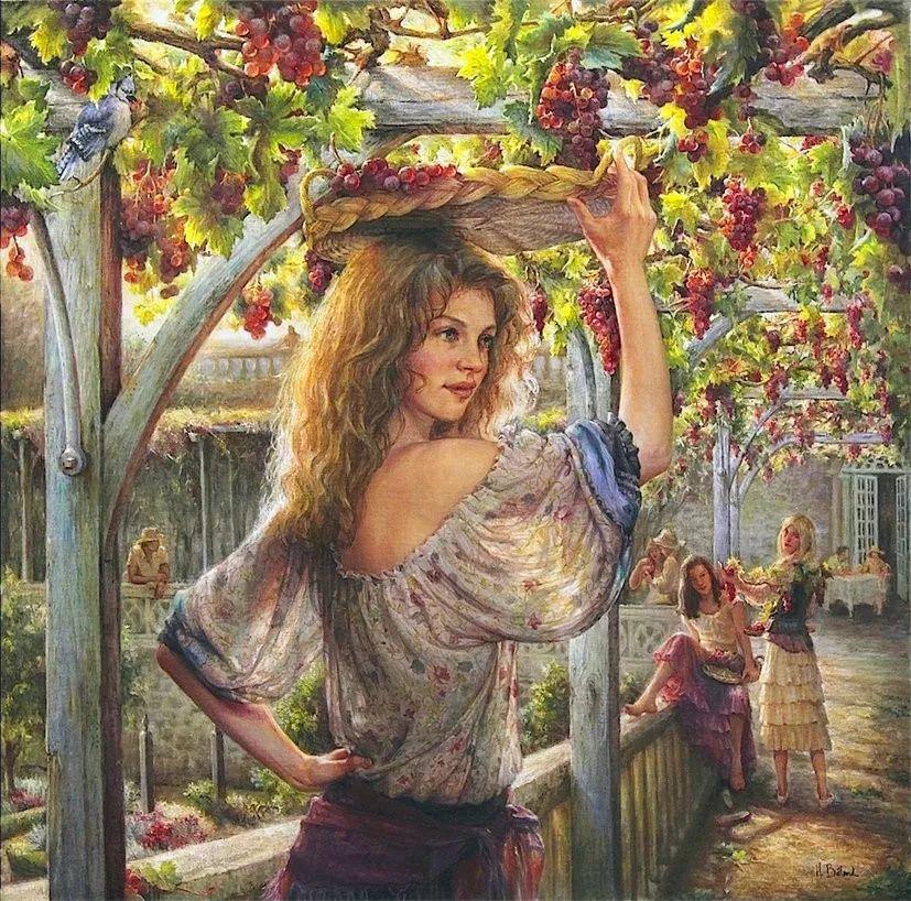 她的作品有一种沐浴阳光的暖感,加拿大画家海伦·贝兰德插图7