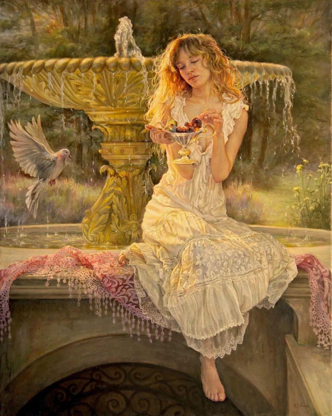 她的作品有一种沐浴阳光的暖感,加拿大画家海伦·贝兰德插图10