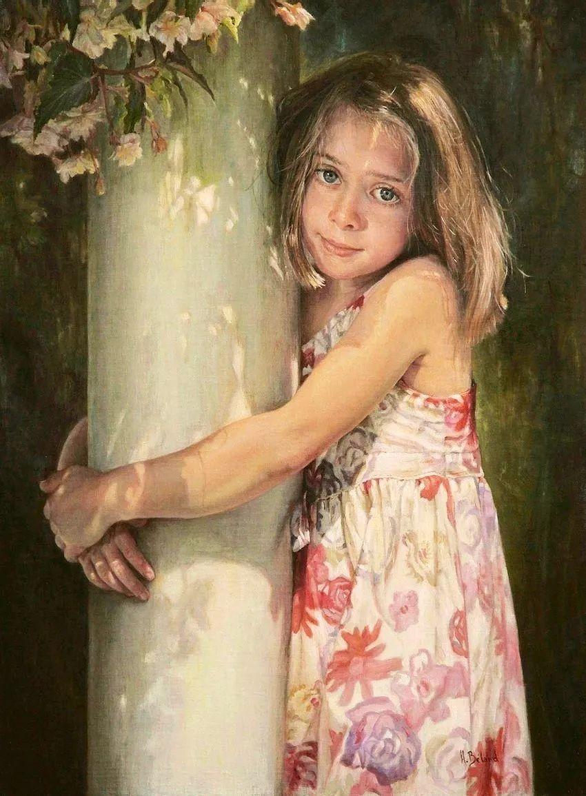 她的作品有一种沐浴阳光的暖感,加拿大画家海伦·贝兰德插图19