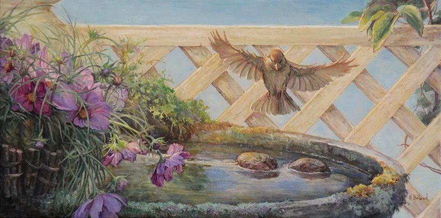 她的作品有一种沐浴阳光的暖感,加拿大画家海伦·贝兰德插图22