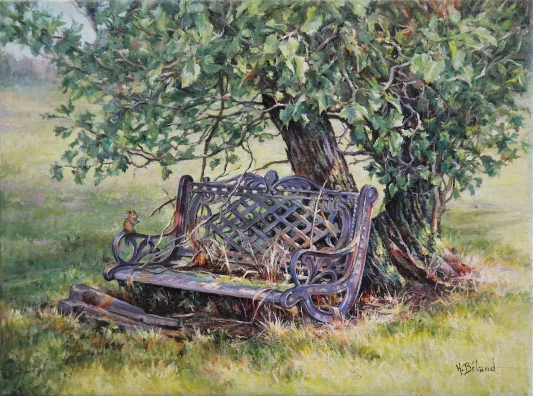她的作品有一种沐浴阳光的暖感,加拿大画家海伦·贝兰德插图24