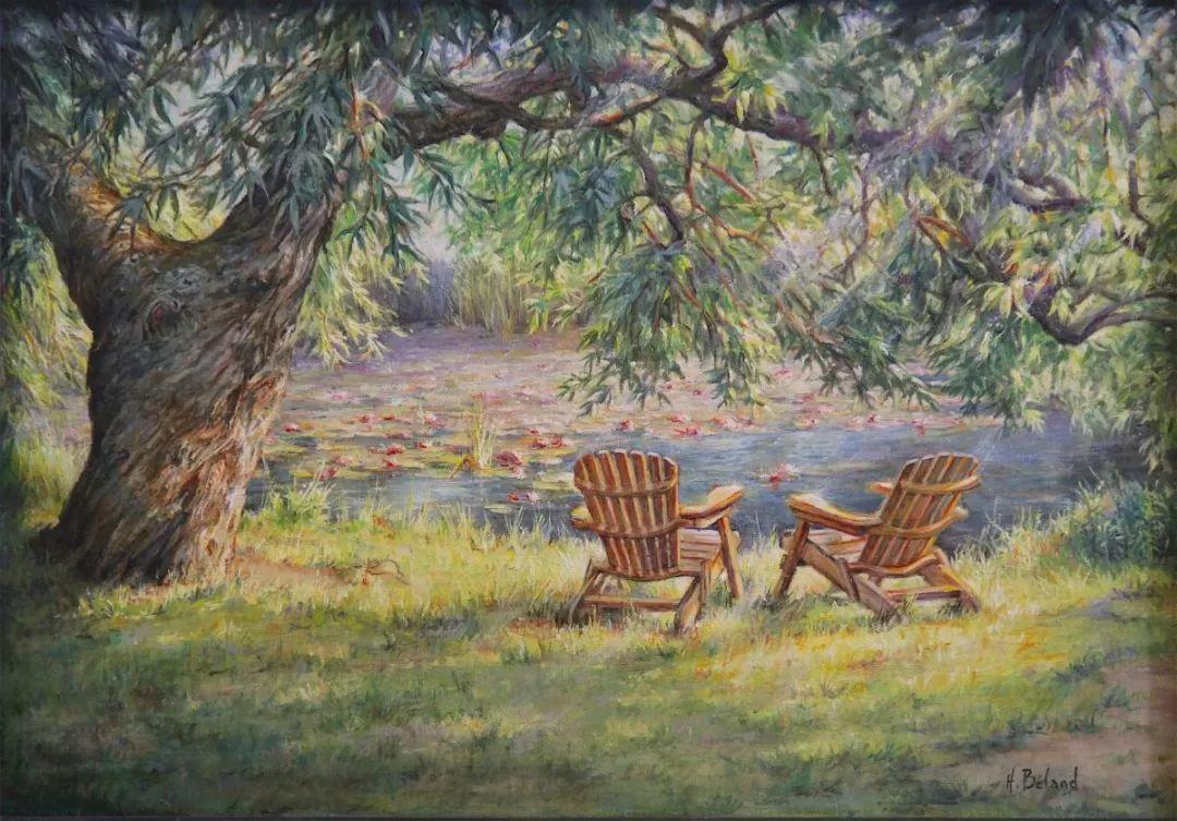 她的作品有一种沐浴阳光的暖感,加拿大画家海伦·贝兰德插图25