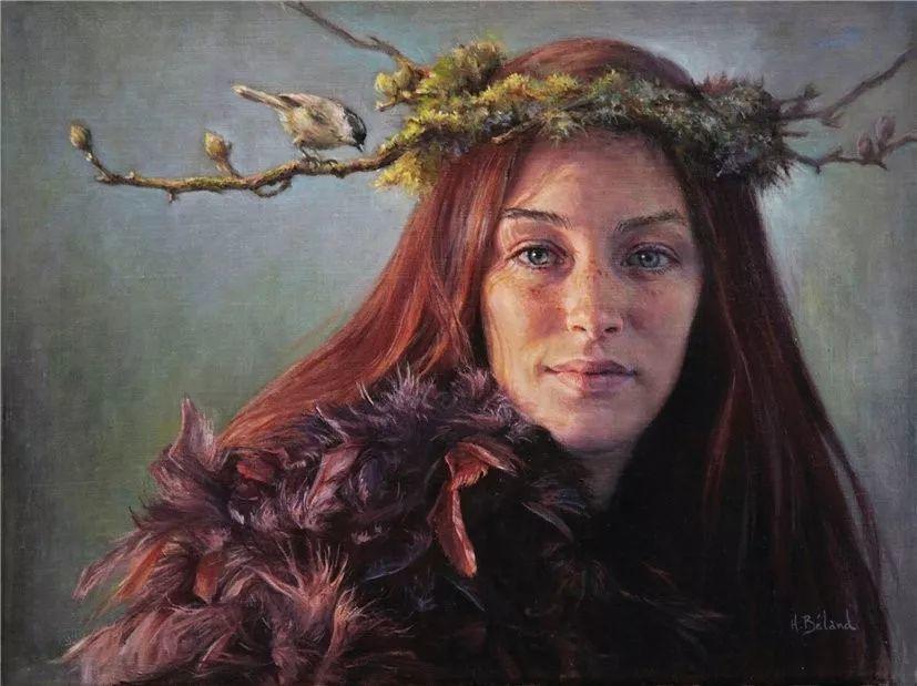 她的作品有一种沐浴阳光的暖感,加拿大画家海伦·贝兰德插图27
