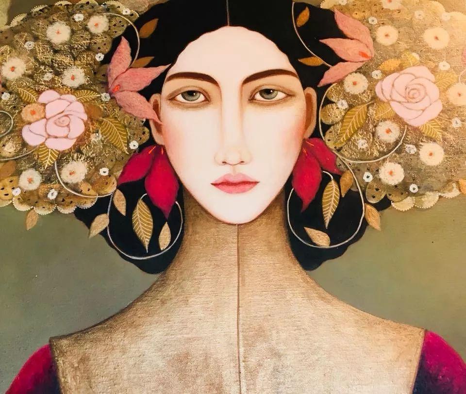 女性美丽与复杂的诠释,阿尔及利亚画家Faiza Maghni插图1