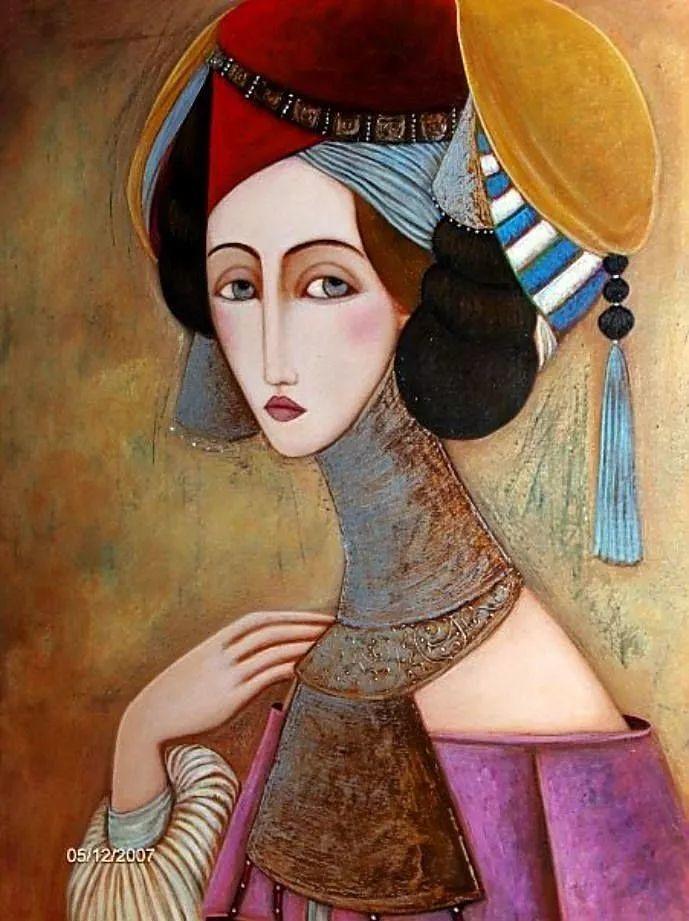 女性美丽与复杂的诠释,阿尔及利亚画家Faiza Maghni插图3