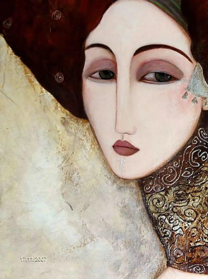 女性美丽与复杂的诠释,阿尔及利亚画家Faiza Maghni插图5