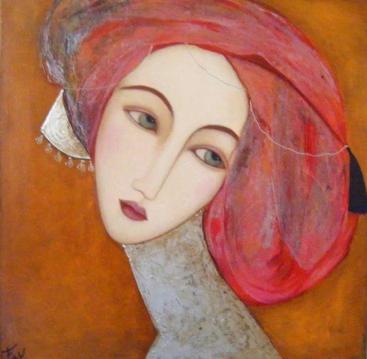 女性美丽与复杂的诠释,阿尔及利亚画家Faiza Maghni插图7