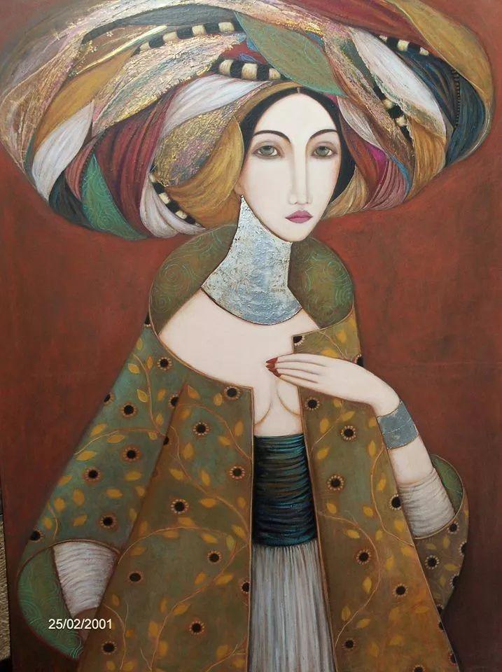 女性美丽与复杂的诠释,阿尔及利亚画家Faiza Maghni插图9