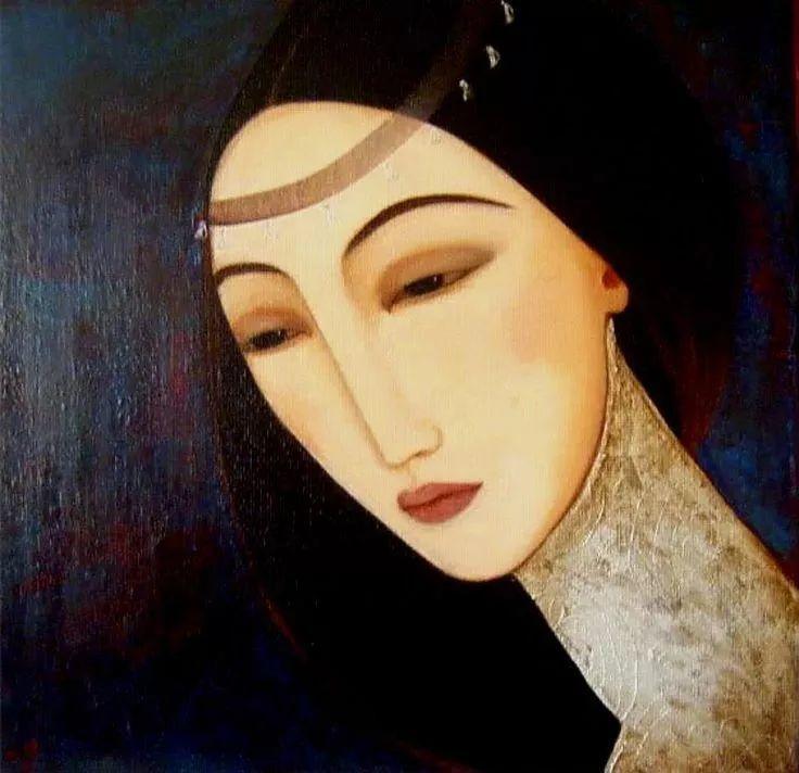 女性美丽与复杂的诠释,阿尔及利亚画家Faiza Maghni插图15