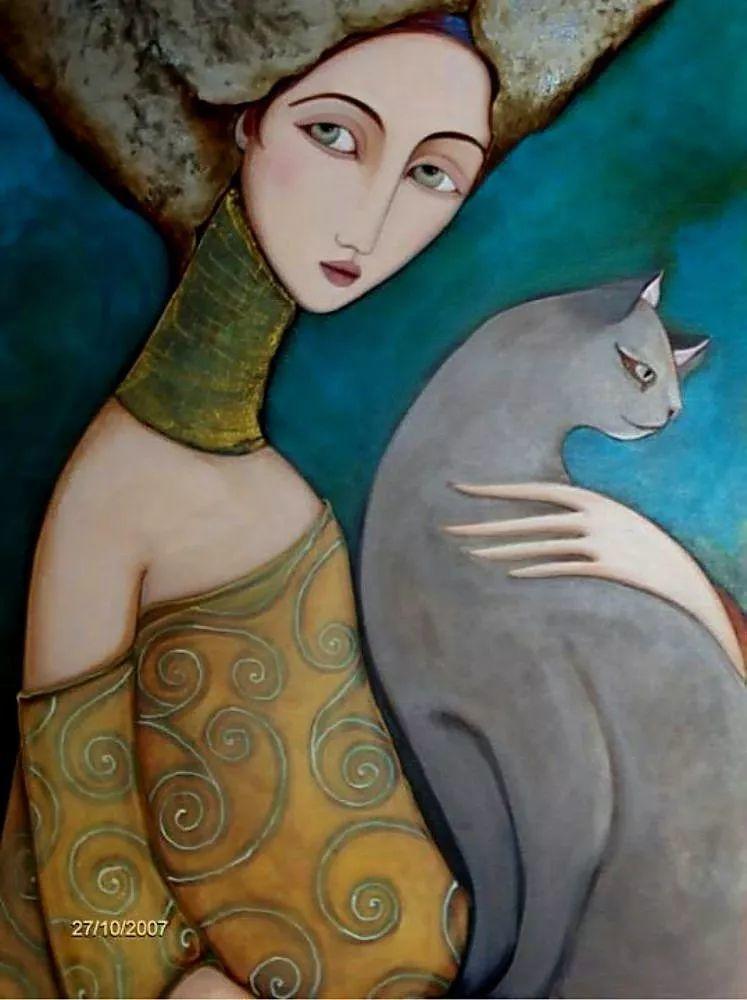 女性美丽与复杂的诠释,阿尔及利亚画家Faiza Maghni插图19