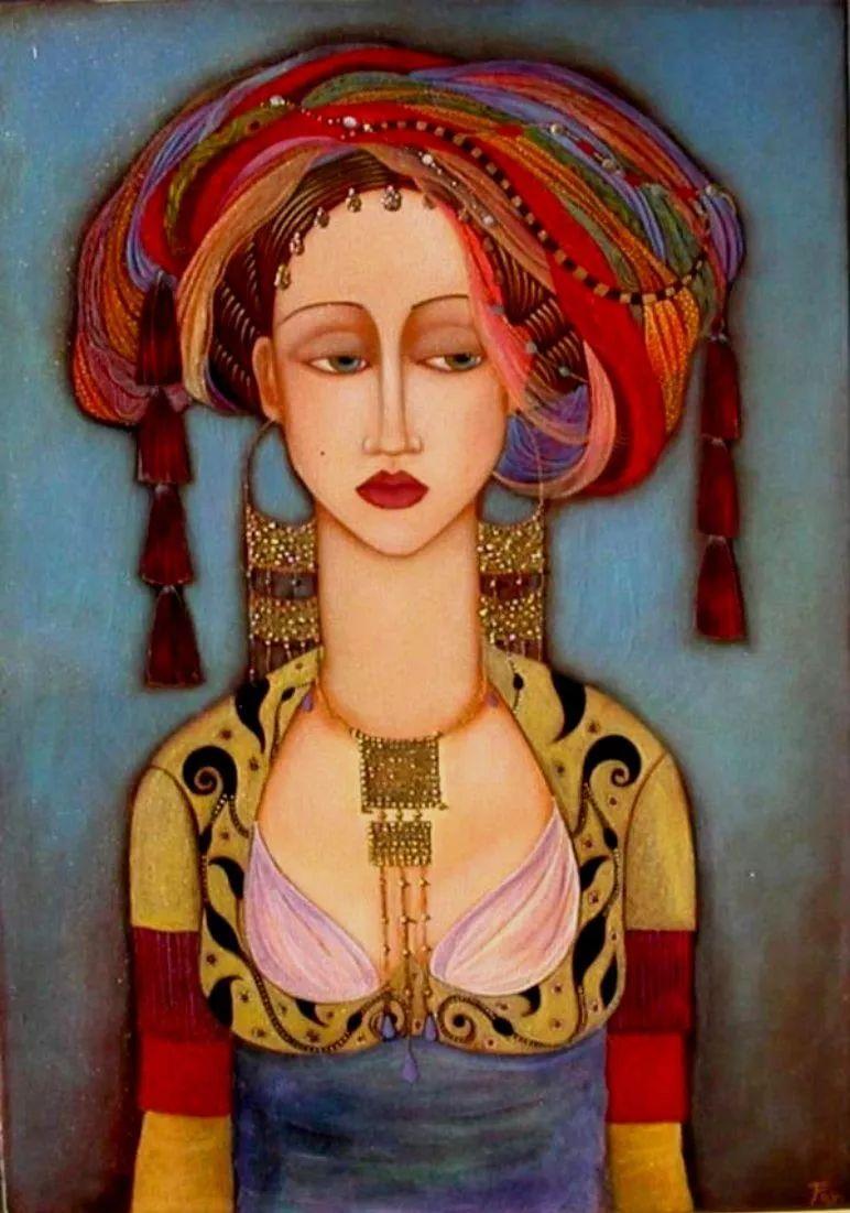 女性美丽与复杂的诠释,阿尔及利亚画家Faiza Maghni插图23