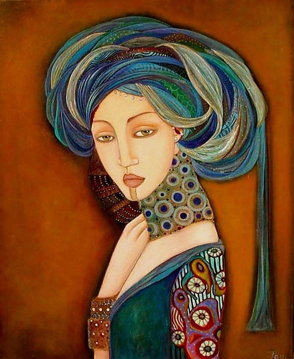 女性美丽与复杂的诠释,阿尔及利亚画家Faiza Maghni插图27