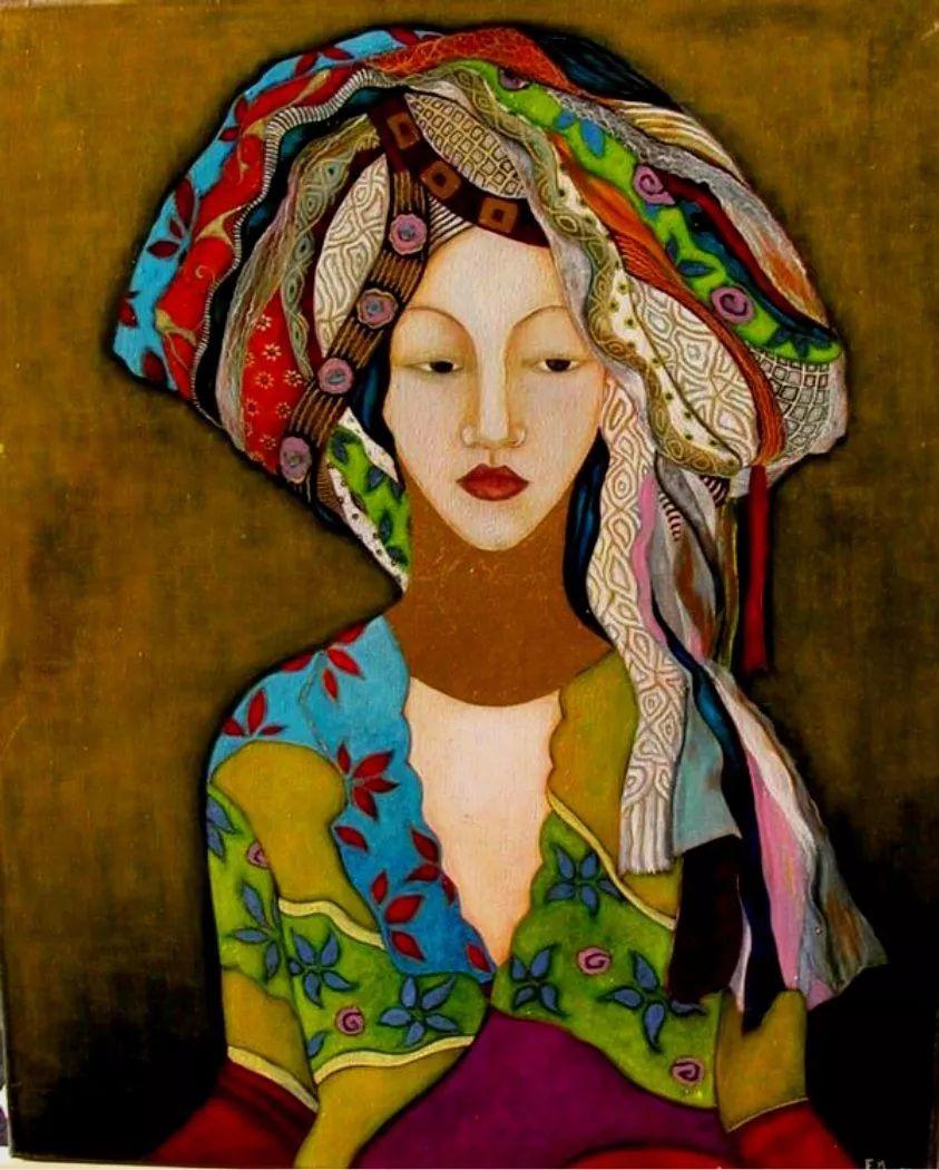 女性美丽与复杂的诠释,阿尔及利亚画家Faiza Maghni插图31