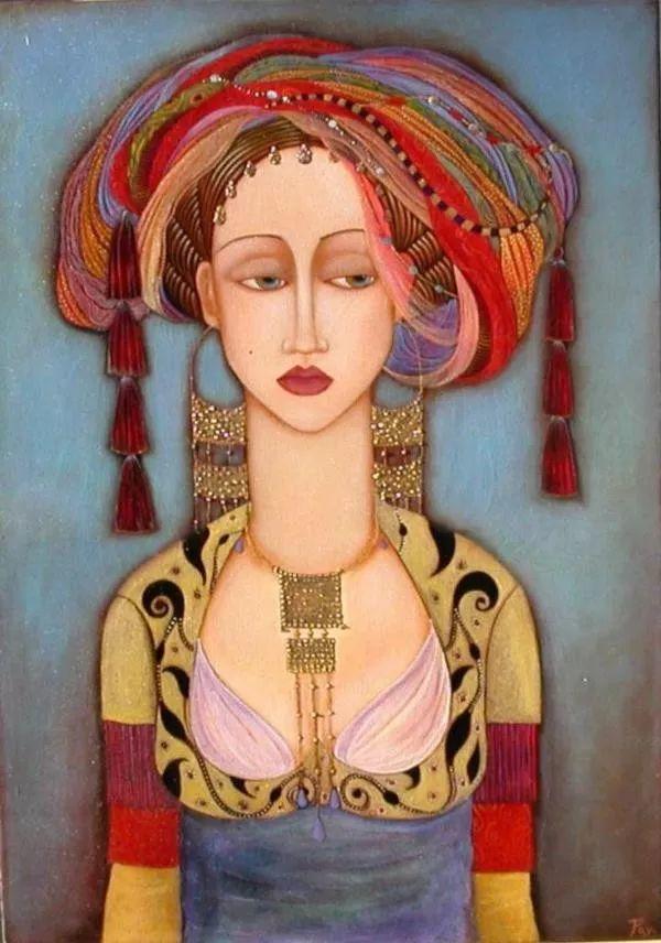 女性美丽与复杂的诠释,阿尔及利亚画家Faiza Maghni插图33