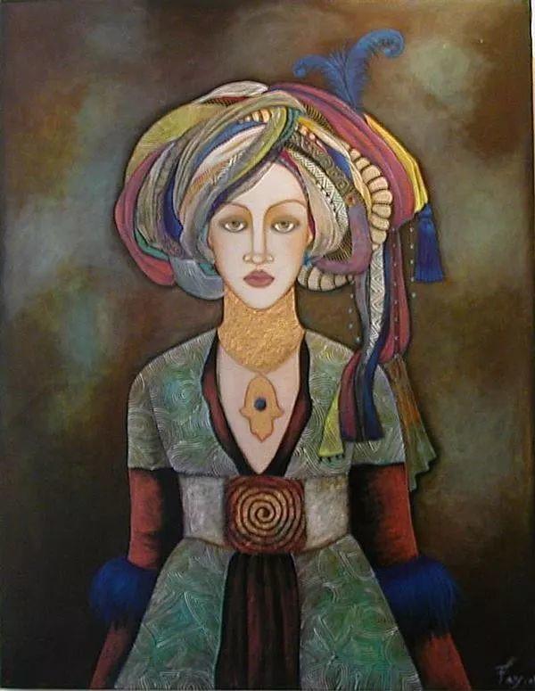 女性美丽与复杂的诠释,阿尔及利亚画家Faiza Maghni插图37