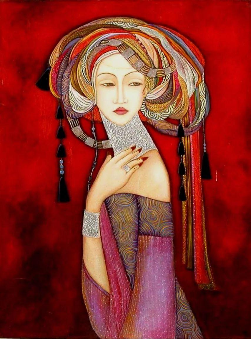 女性美丽与复杂的诠释,阿尔及利亚画家Faiza Maghni插图51
