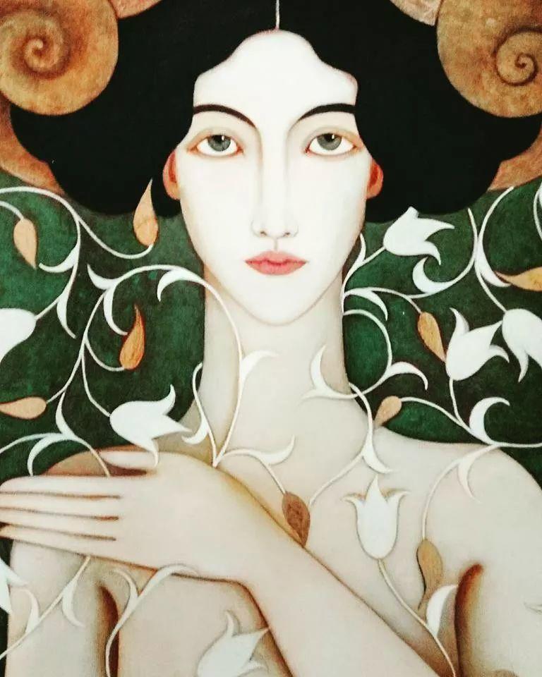女性美丽与复杂的诠释,阿尔及利亚画家Faiza Maghni插图55