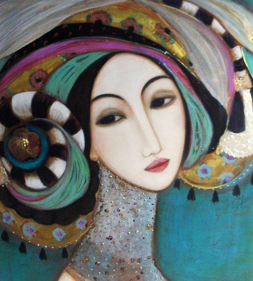 女性美丽与复杂的诠释,阿尔及利亚画家Faiza Maghni插图59