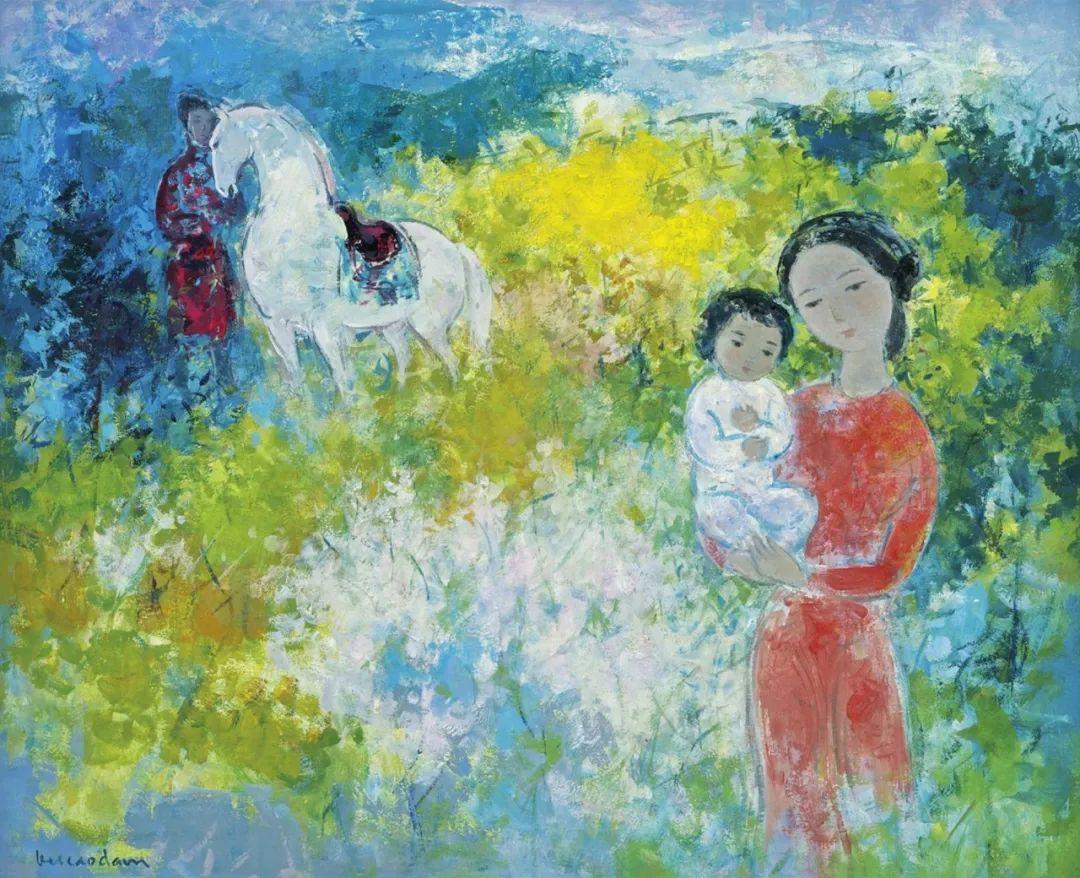 壁画风格绘画,色彩丰富、色调柔和!插图108