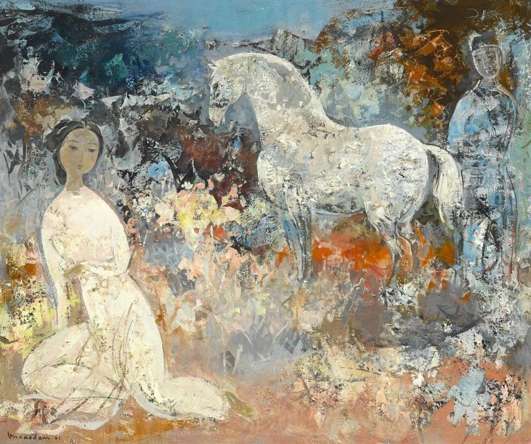壁画风格绘画,色彩丰富、色调柔和!插图124