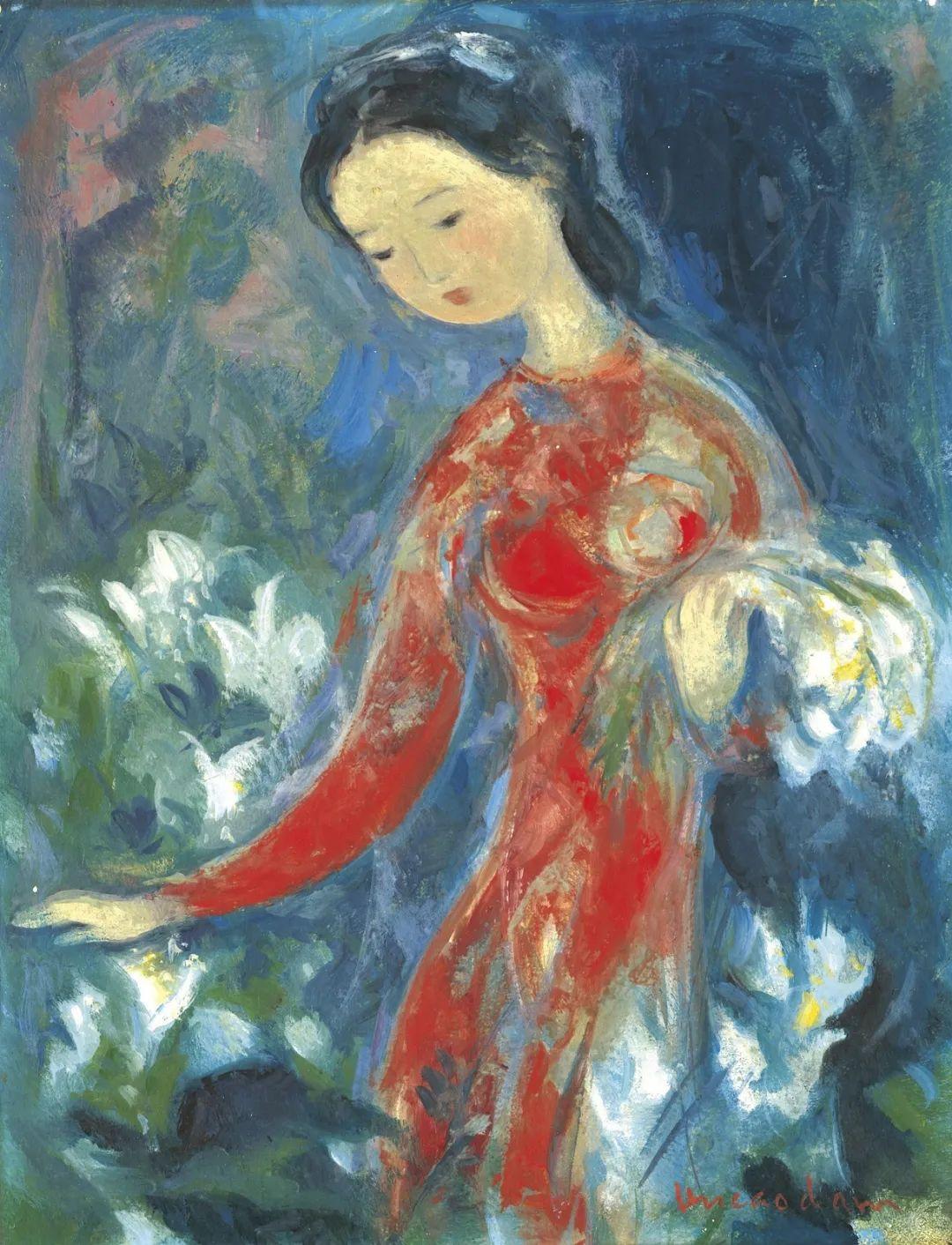 壁画风格绘画,色彩丰富、色调柔和!插图144